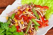 picture of green bean  - Salad from ham - JPG