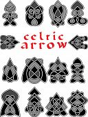 foto of celtic  - Set celtic arrows for design in a vector - JPG