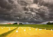 pic of iceland farm  -  The huge cloud closed the sky - JPG
