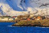 image of reining  - Reine is a beautiful fishing village in Lofoten Islands - JPG
