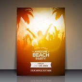 foto of beach party  - Summer Beach Party Flyer  - JPG