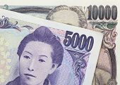 pic of japanese coin  - Stack of japanese currency yen or Japanese banknotes - JPG