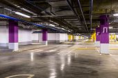picture of parking lot  - Empty parking lot wall - JPG