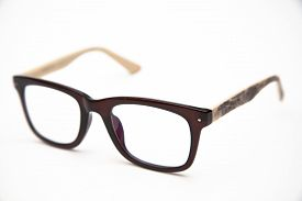 picture of nerd glasses  - Nerd glasses on isolated white background on the table - JPG
