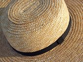 Stock Photos.com Amish Straw Hat From Above
