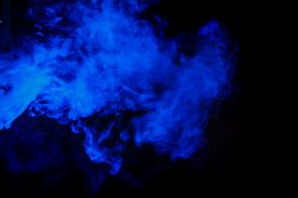 picture of hookah  - Abstract blue hookah smoke on a black background - JPG