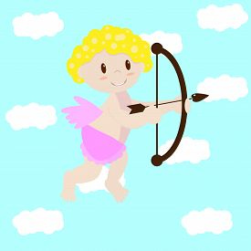 stock photo of cupid  - Love angel - JPG