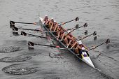Boston - October 24: The Williams College Boat Club Competes In The Head Of The Charles Regatta  On