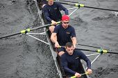 Boston - October 24: Us Coast Guard Academy Men's Crew Competes In The Head Of The Charles Regatta O