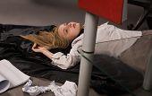 Strangled College Girl On The Floor