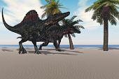 Spinosaurus zu Fuß