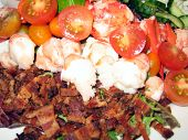 Cobb Salad With Seafood
