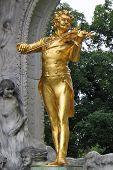 Strauss' Statue In Vienna