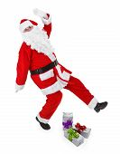 Santa Claus Makes Funny Pose