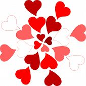 valentine hearts pattern romantic greeting card