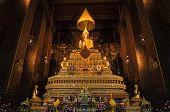 Buddha statues in Wat Pho in Bangkok, Thailand