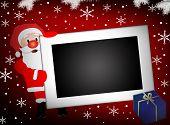 Santa And  Blank Photo Frame Background
