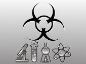 Danger biohazard vector illustration