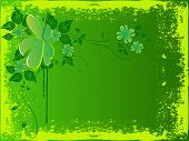 grunge vector st. patricks abstract background