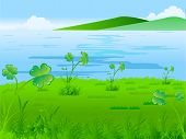 St. Patricks Day vector illustration background