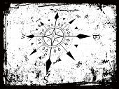 vector illustration of compass grunge background