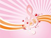 abstract vector illustration music notes