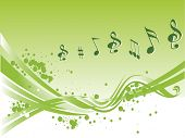 vector musical notes abstract background