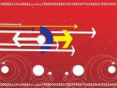hightech red background of arrow, wallpaper