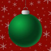 Blank Green Silver Ornament