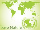 vector ecological earth background, illustration