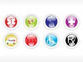 Vektor-medizinische Icon-Serie Web 2.0 Stil