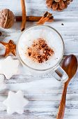 Christmas Coffee With Milk, Spice Or Hot  Cocoa, Pine Cones poster
