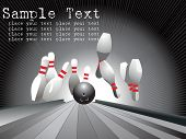 ten pins, bowling, vector illustration