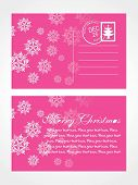 decorative post card with abstract design on pink background