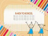 back to school, vector wallpaper
