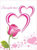 picture of love couple  - rose with love card - JPG