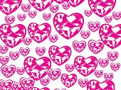 beautiful heart with swirl design background