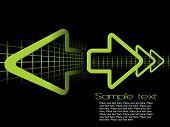 green arrow with mesh, vector illustration