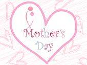 mother day with heart shape background