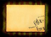 Papier mit Teil der Musik note