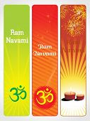 abstract pattern banner for ram navami