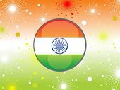 pic of ashok  - abstract colorful firework background with button in flag color - JPG