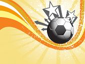 abstract yellow rays background with grungy soccer and stripes