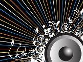 Fondo de rayos con audio de diseño creativo