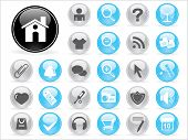 background with collection of web icons, vector illustration