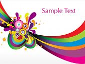 colorful funky stripes design vector
