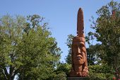 Very Tall Wooden Indian