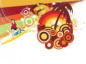 abstract illustration of summer background, vector wallpaper