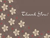 picture of thank you card  - abstract background with blossom - JPG