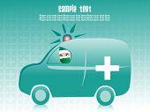 SeaGreen fondo con ambulancia médica
